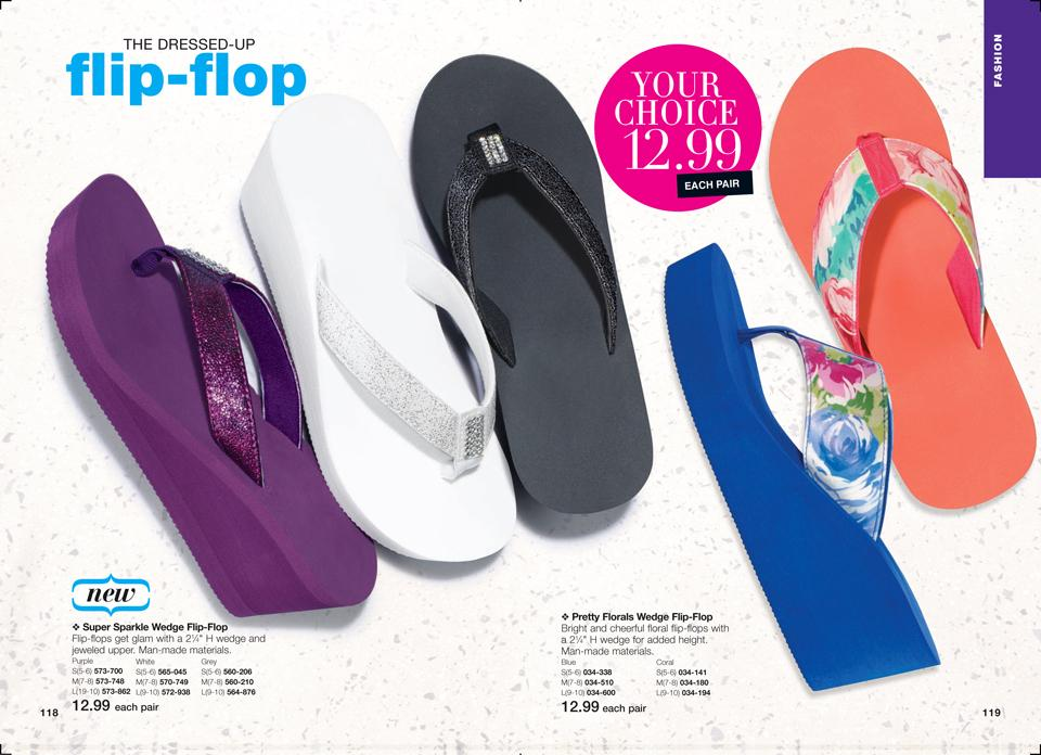 super wedge flip flops